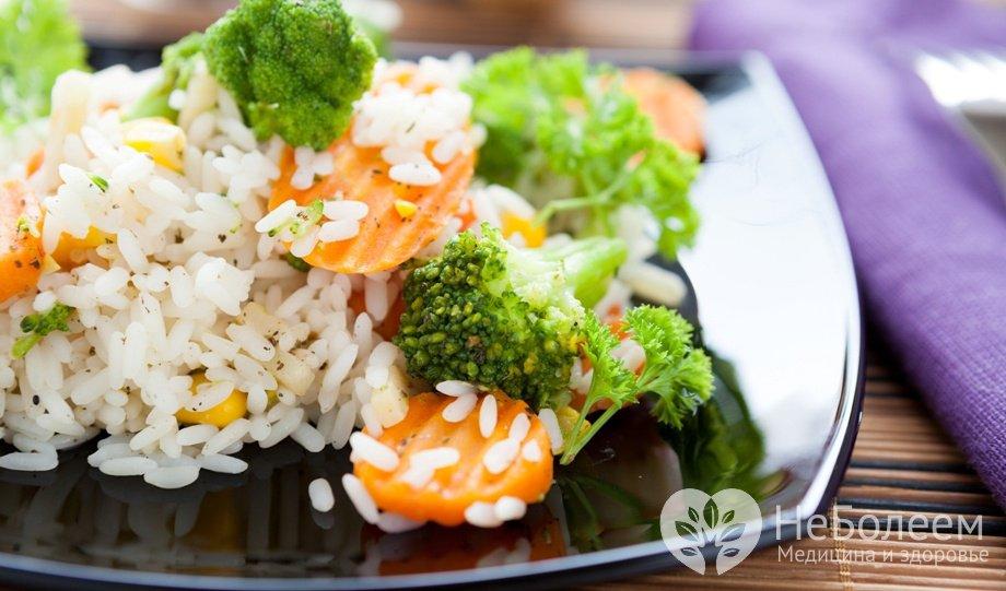 Рис відварний з овочами
