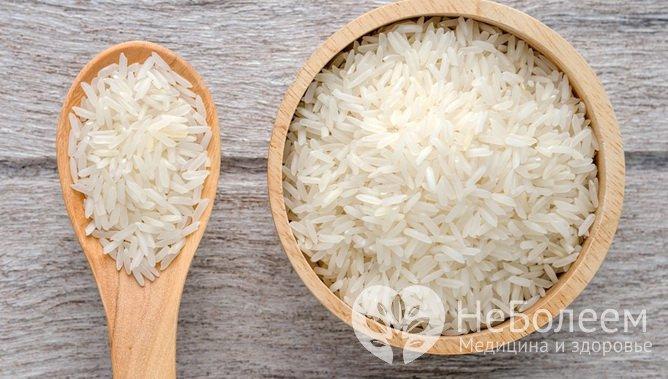 Продукти з тривалим терміном зберігання: білий рис